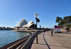 Australia.Sydney - August 2015.View on the Opera House and the boulevard in t Kuvituskuvat