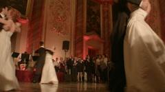 Ballroom Room Dancers - stock footage