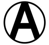 Anarchy Symbol - stock illustration