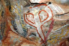 Stock Photo of aboriginal rock painting