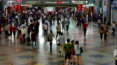 KUALA LUMPUR - February 2015: KL Sentral station. 4K resolution tilt shift. Stock Footage