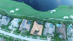 40 St Thomas pan view golf course birds eye view. Stock Footage