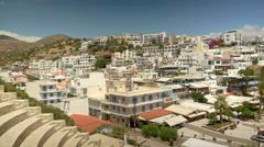 View at Agia Galini Crete Greece Stock Footage