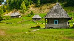 Old Ukrainian Home Stock Footage