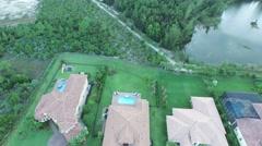 Fly over property birds eye view of 7717 Eden Ridge Way Stock Footage