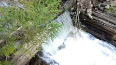 Torrent of water from a dam old abandoned 77 Stock Footage