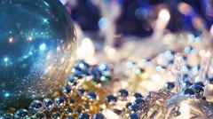 christmas decorations close-up seamless loop - stock footage