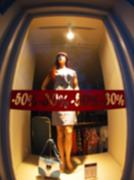 Defocused and blur bottom view of the female mannequin Stock Photos
