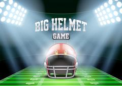 Background for posters night american football stadium in the spotlight Stock Illustration