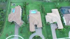crane down of property birds eye view of 7717 Eden Ridge Way - stock footage