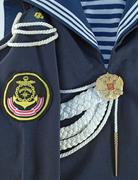 A fragment of the ceremonial dress of the Navy of Russia Stock Photos
