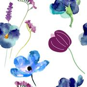 Watercolor pattern - stock illustration