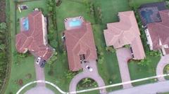 Increase of altitlude property birds eye view of 7717 Eden Ridge Way Stock Footage