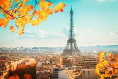 eiffel tour and Paris cityscape - stock photo