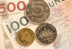 Swedish Currency Close Up - stock photo