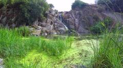 water fall in Sardinia - stock footage