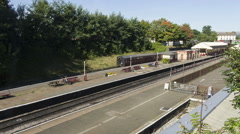 East Lancashire Railway Diesel trains Stock Footage