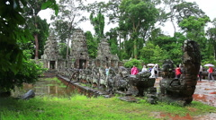 South gate of Angkor Thom Stock Footage