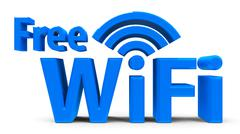 Free WiFi symbol - stock photo