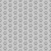Gray Dog Paw Prints Tile Pattern Repeat Background - stock illustration