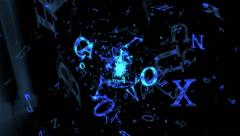 The animated background of flying letters Stock Footage