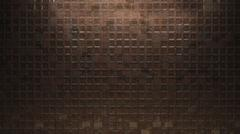 Stock Illustration of Metal square wall background brown