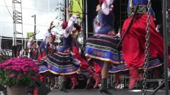 Dancers at Bloor West Village Ukrainian Festival 2015, Toronto Stock Footage