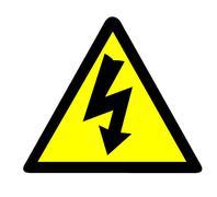 Electrical Warning Symbol Stock Illustration