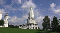 The Church of the Ascension in Kolomenskoye, Moscow, Russia. Stock Footage
