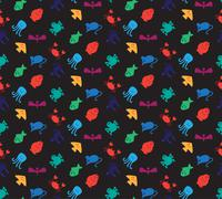 Animals icons seamless pattern - stock illustration