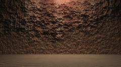 Stock Illustration of Rock wall background with ground cracked