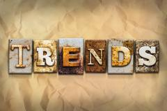 Trends Concept Rusted Metal Type - stock photo