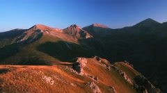 Scenery from the mountain peak Plat in Macedonia (2322m) Stock Footage