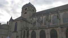 Basilique Notre Dame of Alencon in Normandy France by the day 4K 2160p UHD  Stock Footage