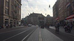 Timelapse of the metro stop at Dam square Stock Footage