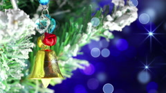 Bell christmas tree decoration close-up loop 4k (4096x2304) Stock Footage