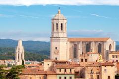Girona. Cathedral. - stock photo