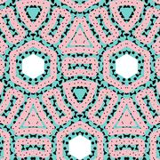 Romantic pink symmetrical pattern Stock Illustration