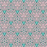 Romantic pink symmetrical pattern Stock Illustration
