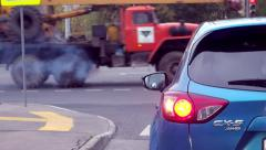Cars in the big city - bad ecology Stock Footage