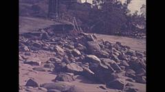 Vintage 16mm film, 1945, USA, hurricane aftermath beach erosion #3 Stock Footage