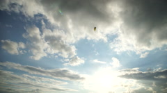 Parachute flying in the sky Stock Footage