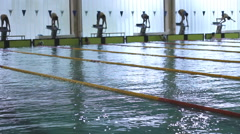 Swimming Pool competition Race track  04 Stock Footage