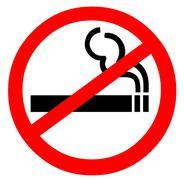 No Smoking - stock illustration