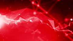 4k Technology Abstract Animation Background Seamless Loop. Red Color Stock Footage