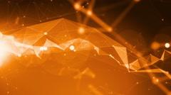 4k Technology Abstract Animation Background Seamless Loop. Orange Stock Footage