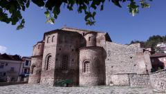 st. Sofia church in Ohrid, Macedonia - stock footage