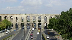 Stock Video Footage of Istanbul Historical Aqueduct