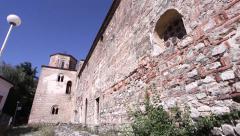 st. Sofia church in Ohrid, Macedonia - stock footage