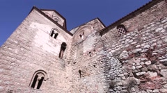 Pan shot of st. Sofia church in Ohrid, Macedonia Stock Footage